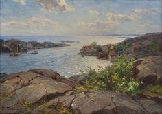 Even Ulving In May, from Brekkestø Classical Art, Painter, Coastline, Image, Painting, Art, Scandinavian Art