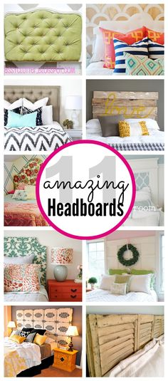 Looking for a fun project? Try making one of these 11 amazing #DIY #headboards! via @classyclutter4