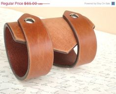 Fancy leather cuff