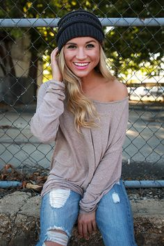 This tunic is the perfect basic to add to your cool weather wardrobe!