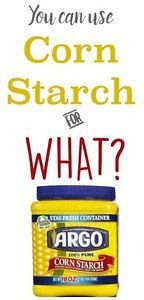 Find out 10 ways to use Corn Starch that don't involve baking. You can make starch for clothing...