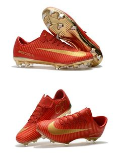 Mens Nike Mercurial Vapor 11 FG Football Shoes - Red Gold