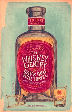 The Whiskey Gentry - Concert Poster 1 by Conrad Garner