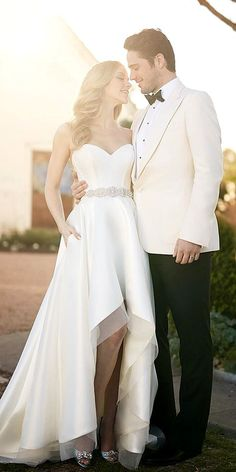 Top 21 High Low Wedding Dresses ❤ See more: http://www.weddingforward.com/high-low-wedding-dresses/ #weddings