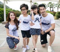 $39.15 Summer Family Set Print Modal T Shirt With Pants #onlinefashion #onlineshopping #onlineshoppingchina #onlineshoppingsingapore #kidswear #clothing #cheap