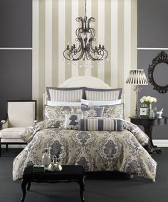 Bed Linen and Quilt Covers from Linen House - Balencia at Adairs. Grey Duvet Set, Duvet Sets, Linen Bedroom, Linen Bedding, Bed Linen, Buy Bed, Quilt Cover Sets, Classic Collection, Dream Bedroom