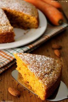 Torta di carote e mandorle. Senza burro, uova e latte. Carrot cake