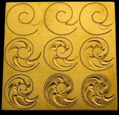 Western Bright Cut Tutorial Tutorials and Contests - Hand Engraving Forum Leather Tooling Patterns, Leather Pattern, Leather Carving, Leather Art, Chip Carving, Wood Carving, Grabar Metal, Engraving Art, Metal Engraving Tools