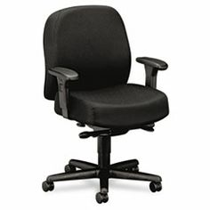 #Chair designed for multi-shift intensive use environments, 100% Olefin upholstery with stain resistant protection provides superior durability and comfort. Easily accomodating users up to 450 lbs., pneumatic seat height and back adjustments cater to every #office employee. Product Detail for HON3528NT10T: Pyramid 3500 Series 24-Hour Mid-Back Synchro-Tilt Task Chair, Black; Available at mcshanes.com #gomcshanes #nwi #nwindiana #business #office #chairs