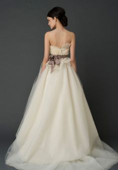 Wedding Dresses, Bridal Gowns by Vera Wang  cute back of dress