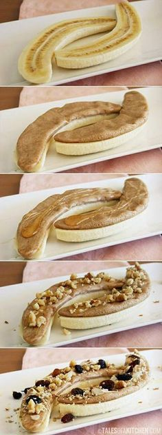 An easy tasty healthy snack on the go. An easy tasty healthy snack on the go. An easy tasty healthy snack on the go. An easy tasty healthy snack on the go. Source by cupcakescutlery Easy Healthy Breakfast, Breakfast Recipes, Snack Recipes, Healthy Eating, Cooking Recipes, Banana Breakfast, Clean Eating, Healthy Breakfasts, School Breakfast