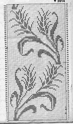 Cross Stitch Bird, Cross Stitch Borders, Cross Stitch Flowers, Cross Stitch Designs, Cross Stitch Patterns, Filet Crochet Charts, Crochet Cross, Thread Crochet, Crochet Curtains