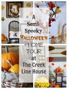 A Semi-Spooky Halloween Home Tour! - The Creek Line House