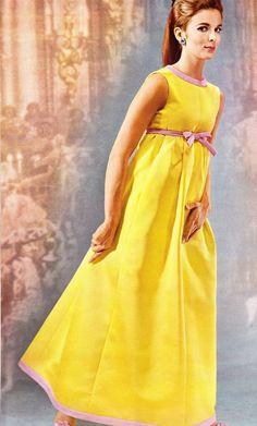 1965 yellow dress by Yves Saint Laurent