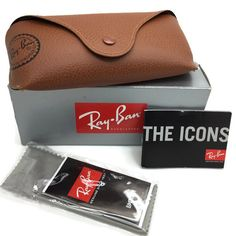 ray ban glasses soft case  ray ban tan eyeglasses sunglasses w/cleaning cloth soft case only