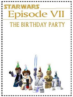 Free Printable Star Wars Lego Birthday Invitations