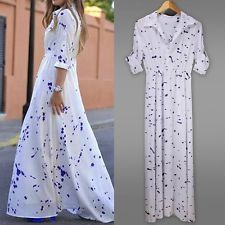 New Sexy Women Summer Boho Evening Party Long Maxi Beach Dress Chiffon Dresses