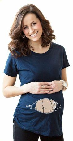 d182302866d2 Godier Letní těhotenství Cartoon Tee Baby Hi Print Staring Ženy Materské  těhotenské krátké rukávové tričko Funny