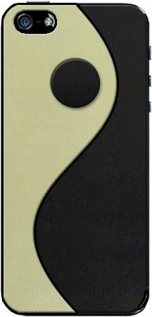 Skin in cuoio per iPhone, Galaxy, Nexus, LG, Sony, HTC, Blackberry con simbolo dello Yin e dello Yan