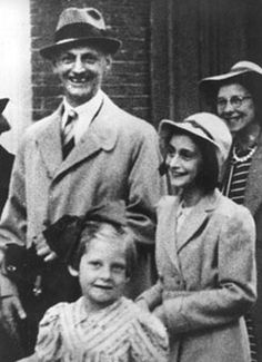 Anne Frank with Her Father, Otto Frank