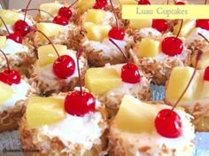 Luau Cupcakes | Created by Diane.  Will make homemade vanilla frosting instead of using canned!