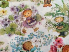 Vintage Gift Wrapping Paper  Floral Paper  by TheGOOSEandTheHOUND, $6.00