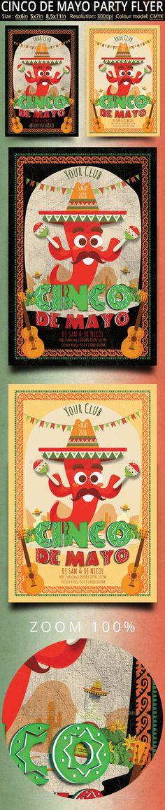 Cinco de Mayo Vintage Flyer And Poster