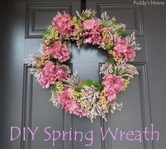 Spring Wreath - DIY Spring Wreath at Puddy's House