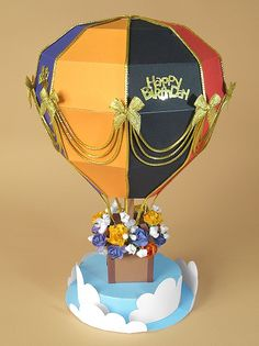 Delicious Hot Air Balloon Box Template. So many possibilities!