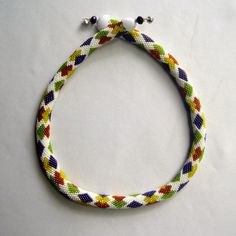 Bead Crochet Necklace  TuttiFrutti Bead by WearableArtEmporium, $8.50