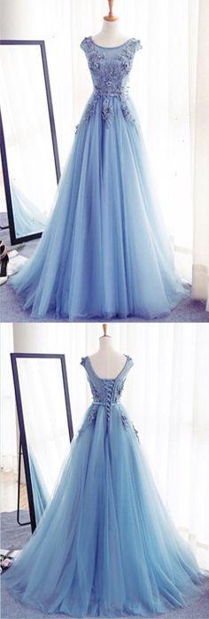 Charming Tulle Handmade Prom DressLong Prom DressesProm DressesEvening  Dress Prom Gowns Formal Women Dressprom dress d3d62864a55ca