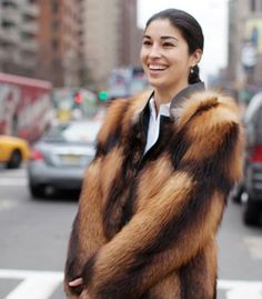 The sublime Caroline Issa in #fur.  Get the look on soon #Musestyle