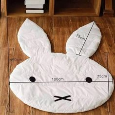 Best 12 Rabbit Soft Baby Play Rugs Type: Play mat, baby game mat Material: Cotton+ polyester Pattern: Rabbit Application: Living Room Size: (including the length of ears) Color: White Quantity: 1 PC Feature: Wrinkle-Resistant,Anti-Bacteria,Ant Tapetes Diy, Living Room Size, Sewing Crafts, Sewing Projects, Baby Pillows, Baby Games, Baby Play, Baby Decor, Baby Sewing