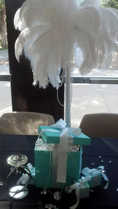 Comes as pictured. These hand made, Blue centerpieces are perfect for a wedding, birthday, shower, or any Bride or Baby Co themed event you'd like to take to the next level. Available in many sizes, w More