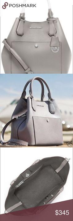 Selling this Kors Large Gray  GRAB BAG NWT Rare find! on Poshmark! My username is: allinmycloset. #shopmycloset #poshmark #fashion #shopping #style #forsale #KORS Michael Kors #Handbags