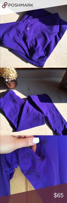 Lulu lemon leggings! Purple, full length size 6 lulu lemon leggings!:) barley worn and in great condition! They're are so comfy and the purple is a beautiful color. Feel free to make an offer! lululemon athletica Pants Leggings