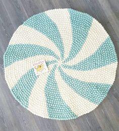 120cm redondo bola fieltro alfombra alfombra de Candy Pop