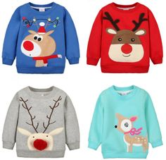 Children Hoodies Girls Red Christmas Reindeer fleece thick Hoodie Boy Baby Thick Sweatshirts Kid's Cartoon Sweater 1014 03 - Kid Shop Global - Kids & Baby Shop Online - baby & kids clothing, toys for baby & kid Baby Girl Jeans, Baby Pants, Baby Boy Outfits, Kids Outfits, Baby Boy Christmas, Red Christmas, Christmas Icons, Boys Hoodies, Sweatshirts