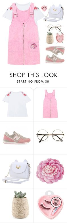 """#ZAFUL 2"" by timeak ❤ liked on Polyvore featuring New Balance, Ballard Designs and Medusa's Makeup"