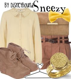 Sneezy outfit - by disneybound