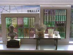 Oude glas in lood ramen. www.desoetelaer.nl