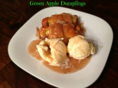 Going to a holiday party? Take these Green Apple Dumplings & be the hit of the party!
