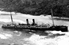 The Maheno shipwreck will play a pivotal role in this year's ANZAC Day centenary celebrations on #fraserisland | Photo source: unknown | For more information: | http://www.eurong.com.au/tours-and-activities/fraser-island-events/anzac-day.html#eurongbeach #fraserisland #queensland #australia www.eurong.com.au #deals