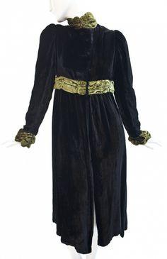 Granny Takes A Trip - Black Velvet Empire Waist coat              $690.00