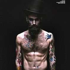 Ricki Hall beard tattoos