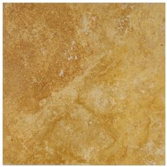 12 in. x 12 in. Tuscany Gold Solid Honed & Filled Finish Square Pattern Travertine Flooring Tile :)