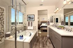What do you think of this stylish Colina Plan 1 master bath? | Colina Plan 1 Master Bath | by SheaHomesNoCal #ensuite #SheaColina