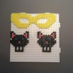 HAMA Fastelavn Beaded Cross Stitch, Hallows Eve, Bead Crafts, Diy Halloween, Perler Beads, Printer, Accessories, Beading, Angel