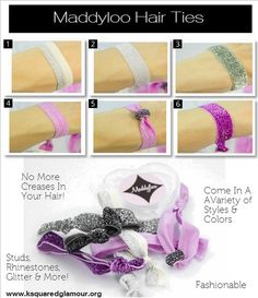 No More Creases In Your Hair When You Use Maddyloo Hair Ties!