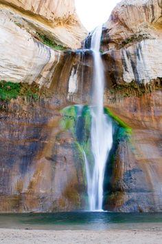 Lower Calf Creek Falls in Boulder, UT. Amazing.